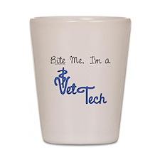 vet tech apparel Shot Glass