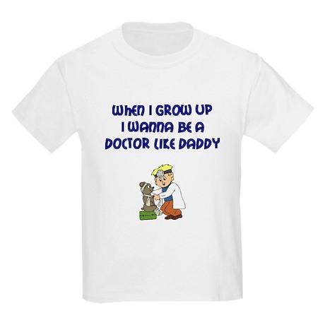 I Wanna Be A Doctor Kids Light T-Shirt