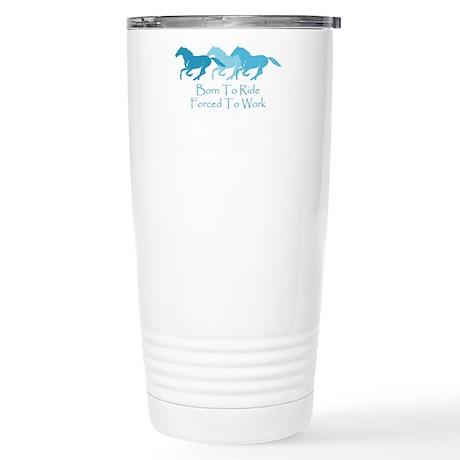 born to ride wild horse Travel Mug