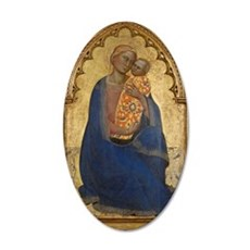 Antique Plaque of Madonna and Child Wall Decal