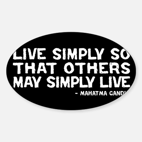 Quote - Live Simply Decal