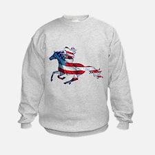 American Western Horse Cowgirl Sweatshirt