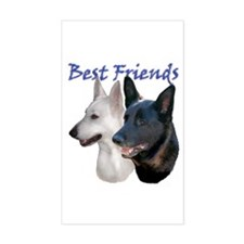 Best Friends Rectangle Decal