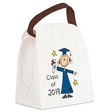 Stick Figure Girl Grad 2014 Canvas Lunch Bag