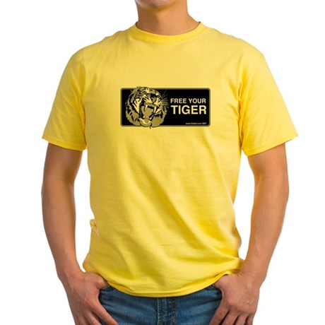 FREE YOUR TIGER Yellow T-Shirt