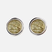 San Francisco Oakland Bridge Coin Cufflinks