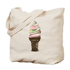 Swirl Ice Cream Cone Tote Bag