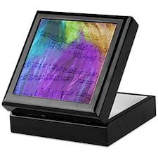 Psychedelic Musical Notes Keepsake Box