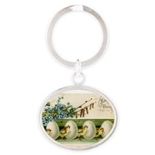 Old Russian Easter Card Keychains