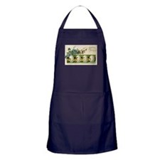 Old Russian Easter Card Apron (dark)