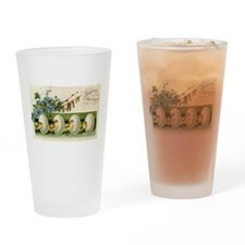 Old Russian Easter Card Drinking Glass