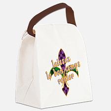 Mardi Gras Bon Temps Rouler Canvas Lunch Bag