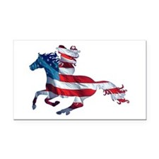 American Western Horse Cowgir Rectangle Car Magnet