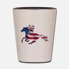 American Western Horse Cowgirl Shot Glass