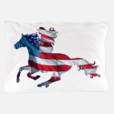 American Western Horse Cowgirl Pillow Case