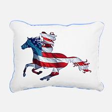 American Western Horse C Rectangular Canvas Pillow