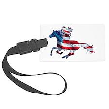 American Western Horse Cowgirl Luggage Tag