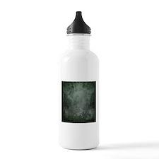 Teal grunge texture Water Bottle