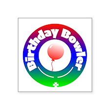 Birthday Bowler Sticker