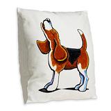 Beagle Burlap Pillows