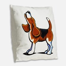 Tricolor Beagle Bay Burlap Throw Pillow