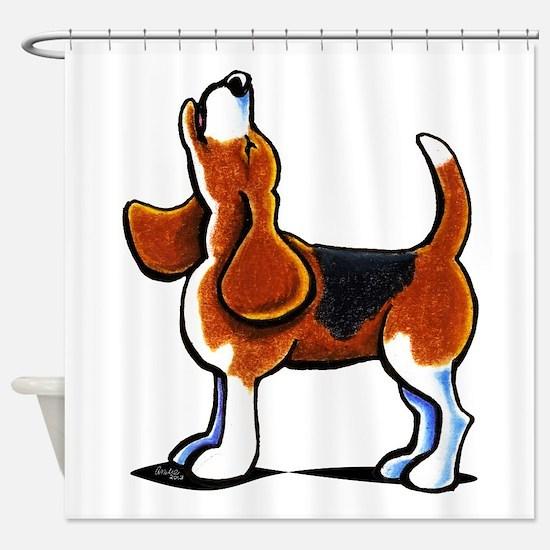 Tricolor Beagle Bay Shower Curtain