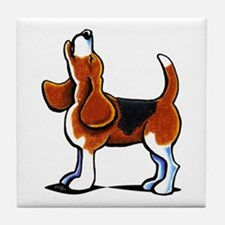 Tricolor Beagle Bay Tile Coaster