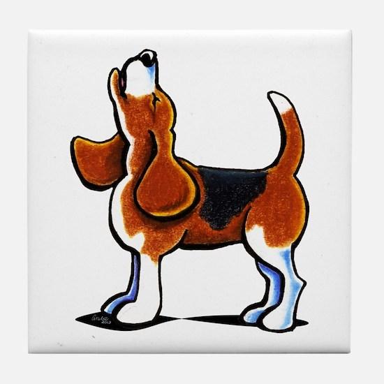 Tricolor Beagle Bay Tile Coaster