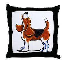 Tricolor Beagle Bay Throw Pillow