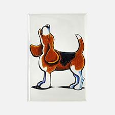 Tricolor Beagle Bay Rectangle Magnet