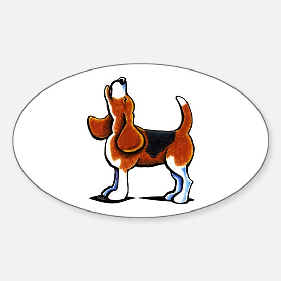 Tricolor Beagle Bay Sticker (Oval)