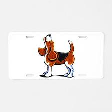 Tricolor Beagle Bay Aluminum License Plate