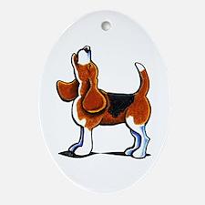 Tricolor Beagle Bay Ornament (Oval)