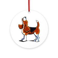 Tricolor Beagle Bay Ornament (Round)