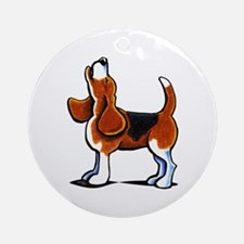Tricolor Beagle Bay Ornament (Round)