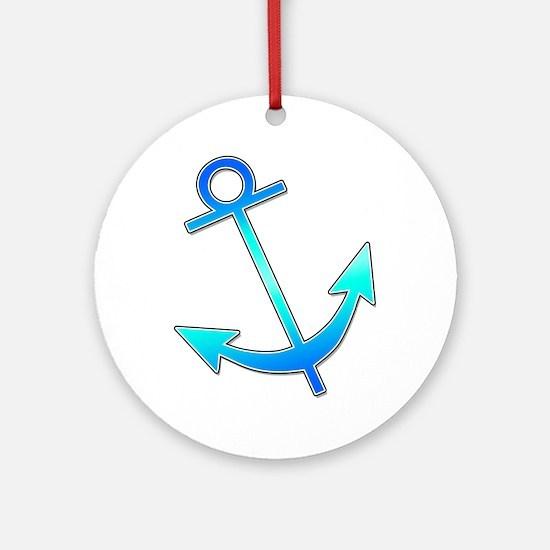 Blue Anchor Ornament (Round)