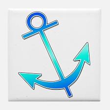 Blue Anchor Tile Coaster