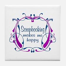 Scrapbooking Happiness Tile Coaster