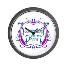 Scrapbooking Happiness Wall Clock