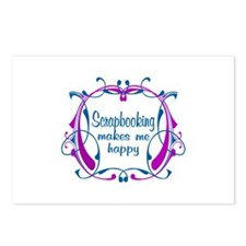 Scrapbooking Happiness Postcards (Package of 8)
