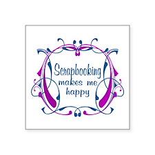 "Scrapbooking Happiness Square Sticker 3"" x 3"""