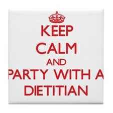 Keep Calm and Party With a Dietitian Tile Coaster