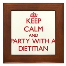 Keep Calm and Party With a Dietitian Framed Tile