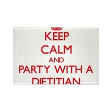 Keep Calm and Party With a Dietitian Magnets