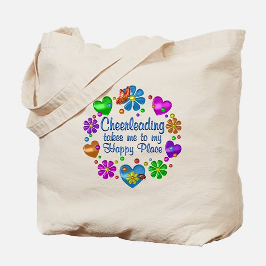 Cheerleading My Happy Place Tote Bag