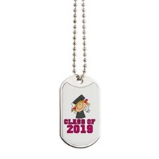 Pink Class of 2014 Grad Dog Tags
