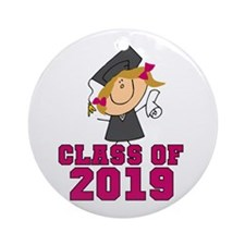 Pink Class Of 2014 Grad Ornament (Round) Ornament
