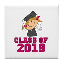 Pink Class of 2014 Grad Tile Coaster