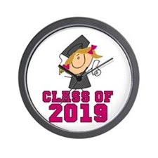 Pink Class Of 2014 Grad Wall Clock