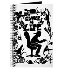 Gamer for Life (All Black) Journal